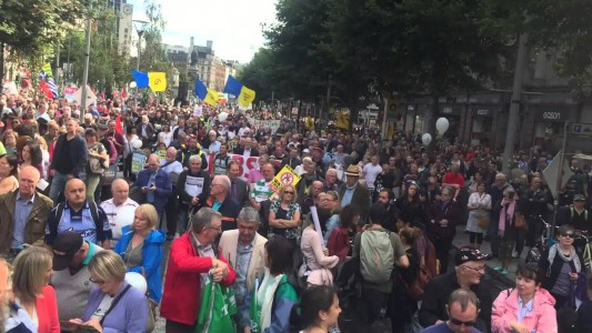 Lack of media coverage of August 29 Water charges march – video